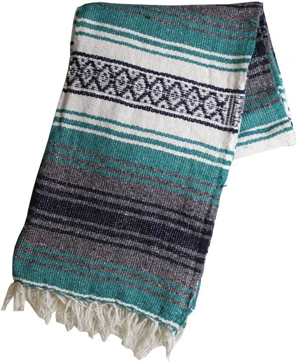 colorful mexican blanket